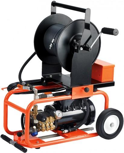 Электрические высоконапорные водоструйные машины для прочистки труб М-1400, 1450, 1600