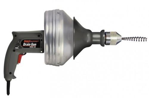 Электромеханический прочистной аппарат «Drain Gun» для внутренних сетей, Dу= 15 — 50мм.