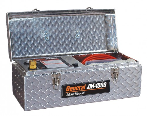 Высоконапорный водоструйный аппарат для прочистки труб JМ-1000 с электроприводом